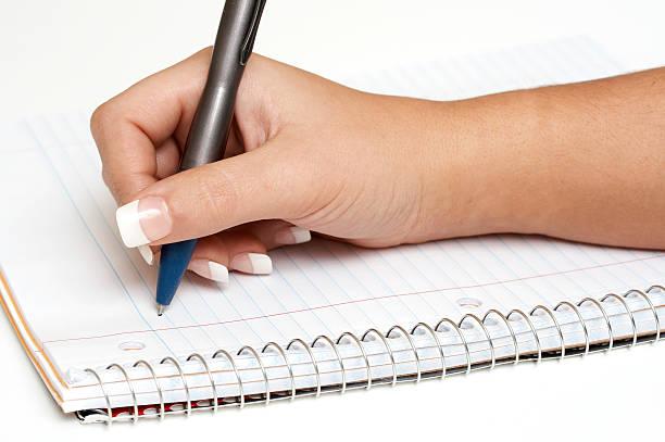hand und Stift – Foto