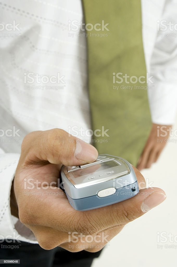 Hand and Phone royalty-free stock photo