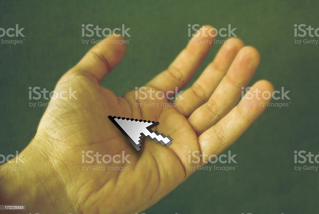 Hand and pointer royalty-free stock photo
