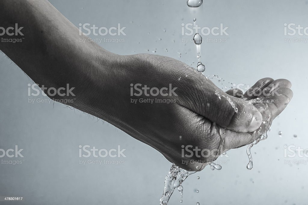 hand and water royalty-free stock photo