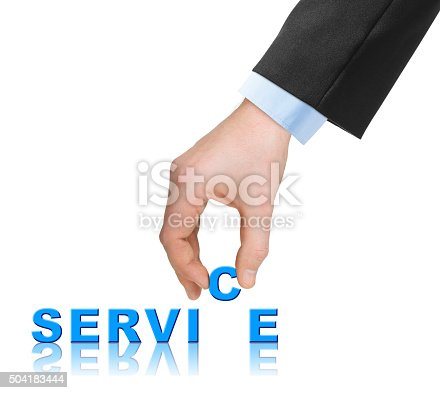173706624istockphoto Hand and word Service 504183444