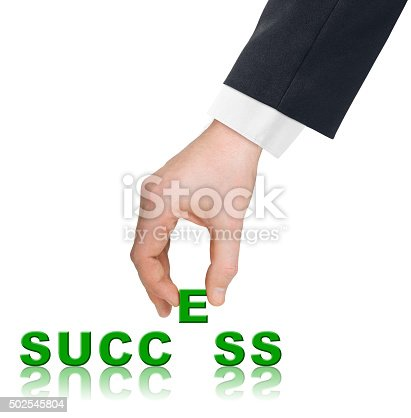 173706624istockphoto Hand and word Success 502545804