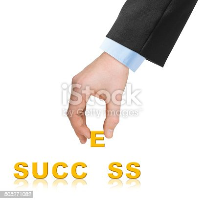 173706624istockphoto Hand and word Success 505271082