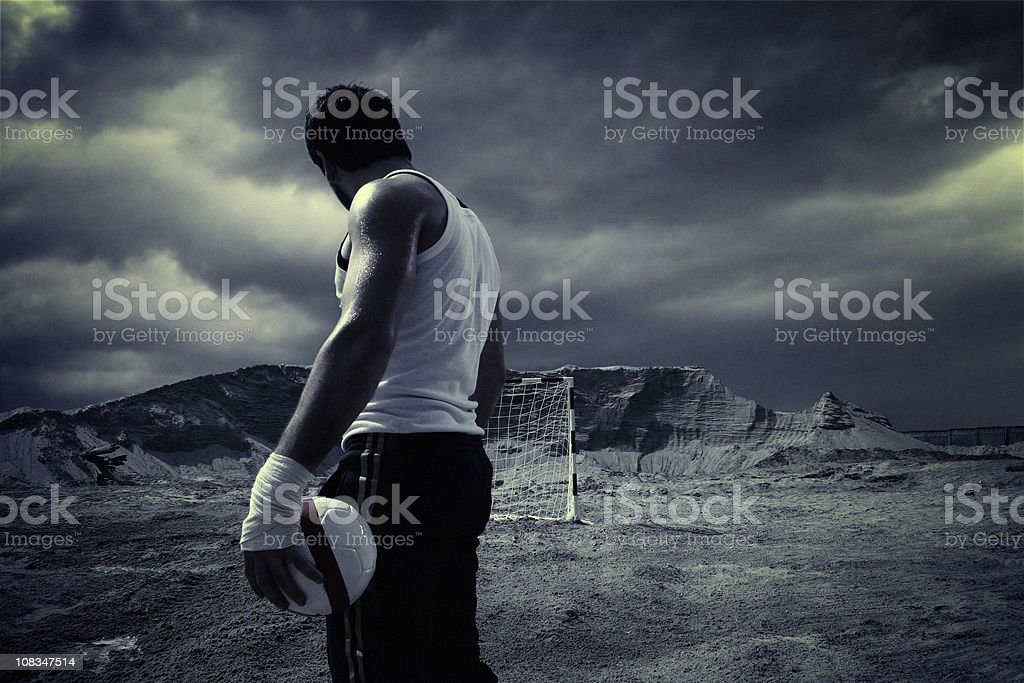hand ball. single player. royalty-free stock photo