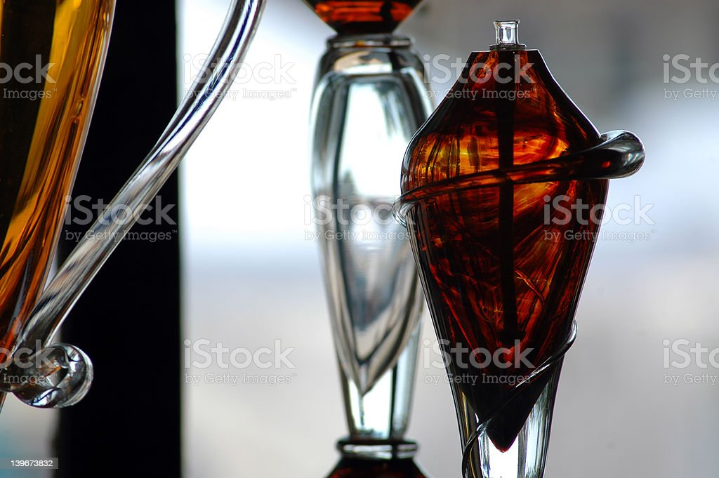 Hand Blown Glass stock photo
