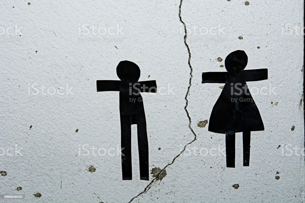 Hand boy and Paper Doll People Holding Hands.Teamwork Concept. royalty-free stock photo