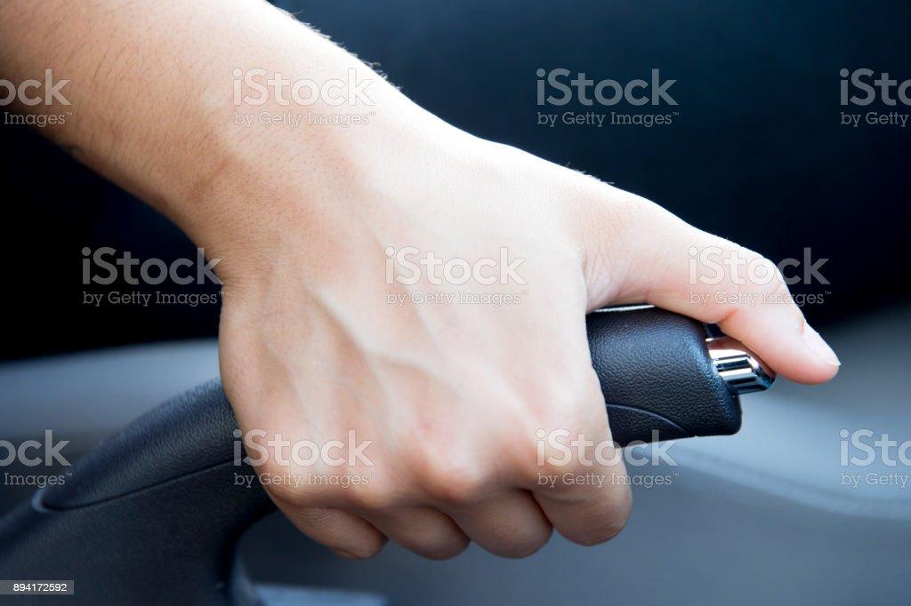 Hand break stock photo