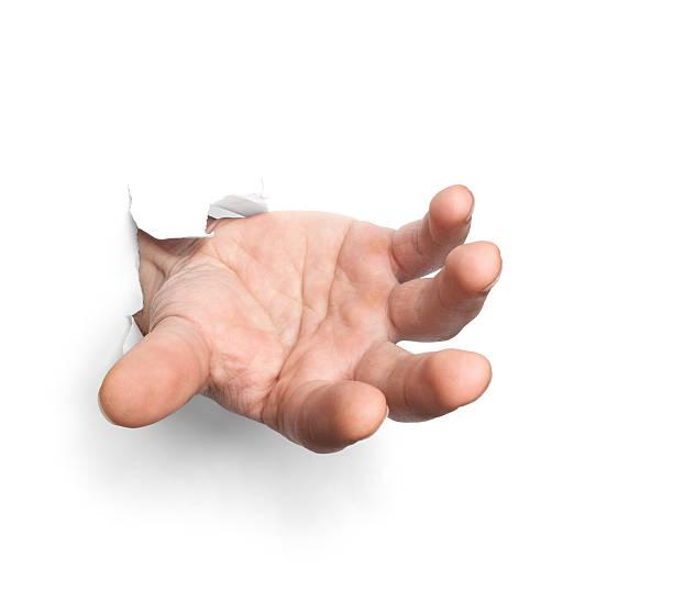 Hand mit Papier-Kurzurlaub – Foto