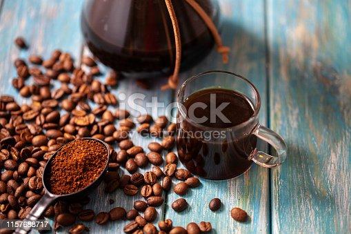 istock hand brewing coffee 1157688717