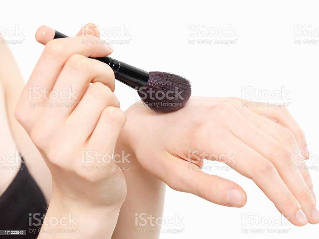 Hand brush to blend. stock photo