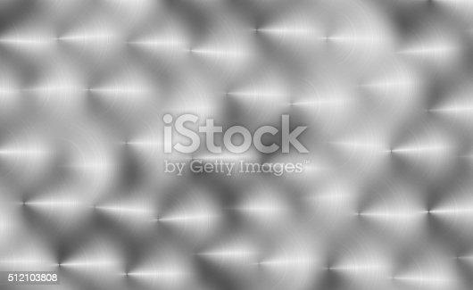 istock Hand brushed aluminum background 512103808
