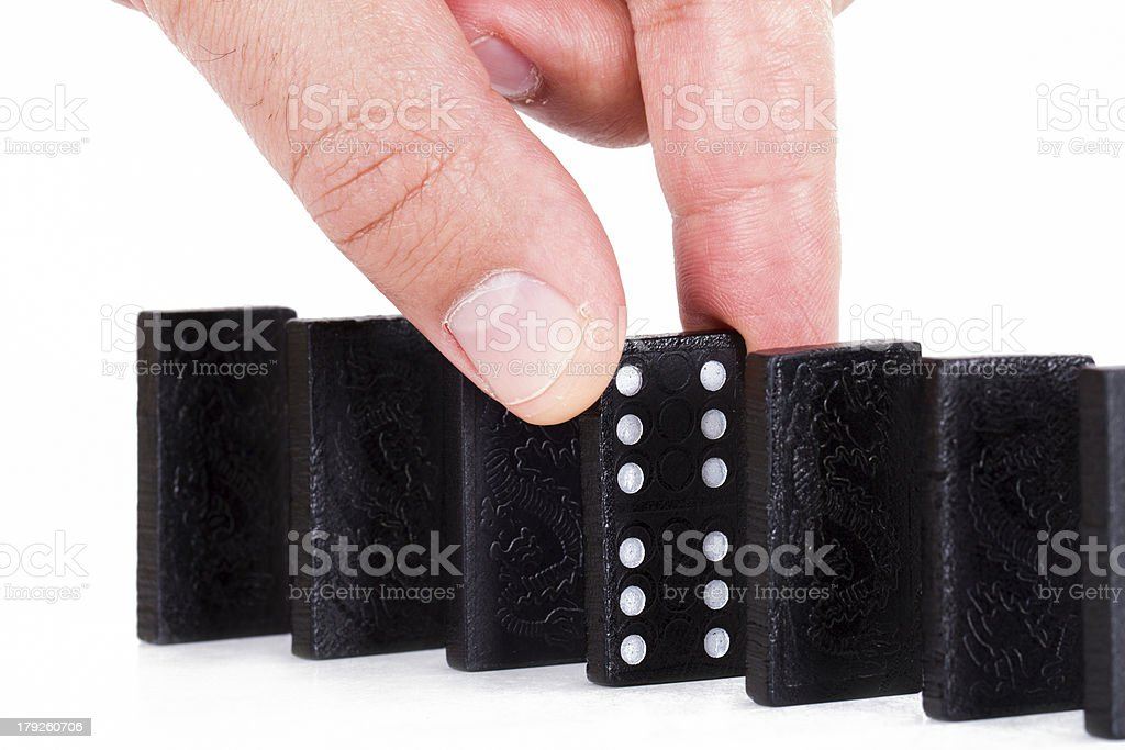 Hand Building Line royalty-free stock photo