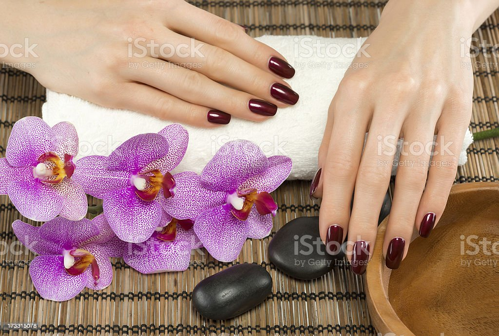 Hand care and manicure royalty-free stock photo