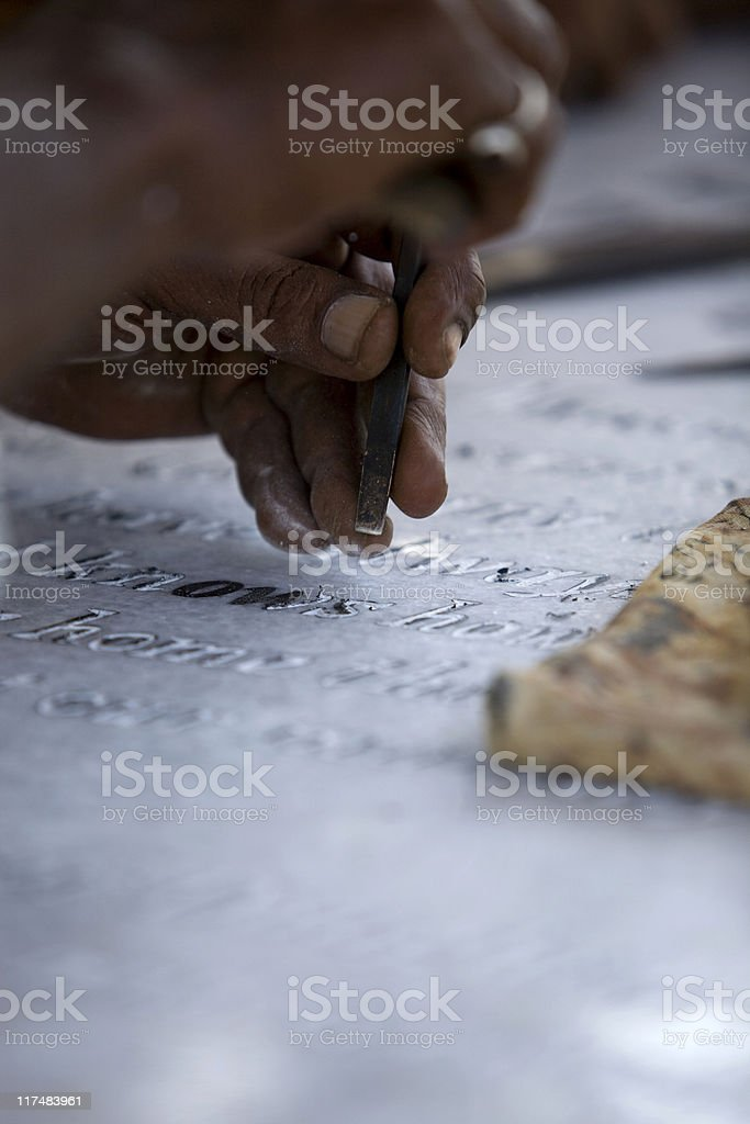 Hand Carving royalty-free stock photo