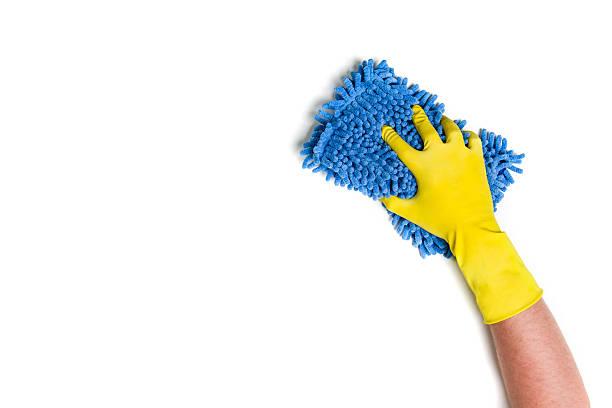 hand cleaning against a white background - glaswaschtisch stock-fotos und bilder