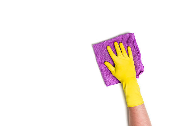 Hand cleaning against a white background – Foto