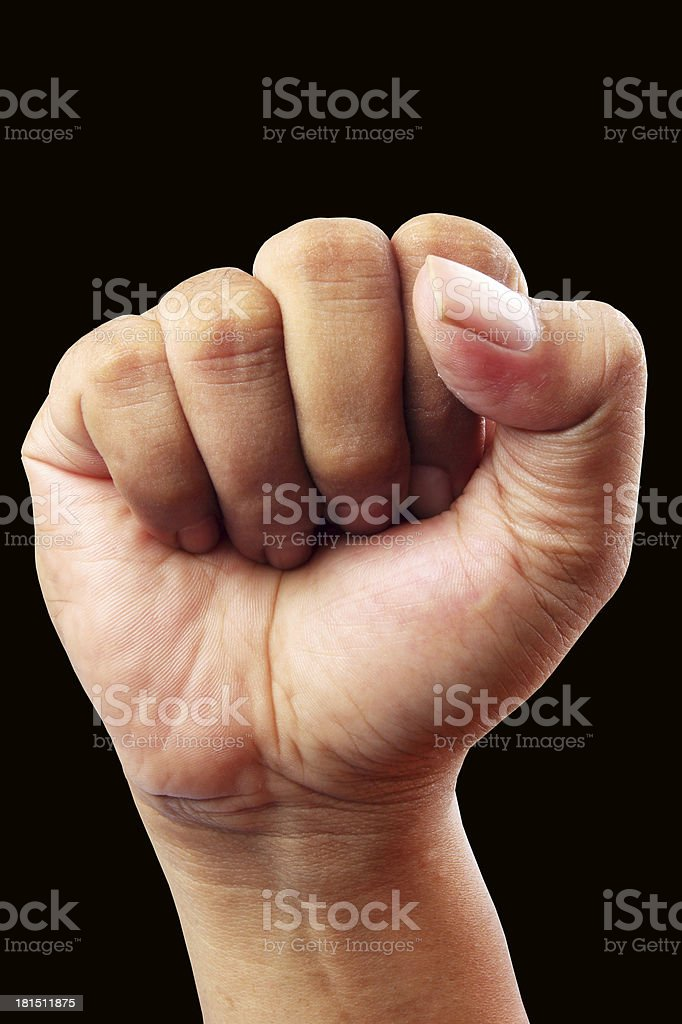 hand clenched royalty-free stock photo