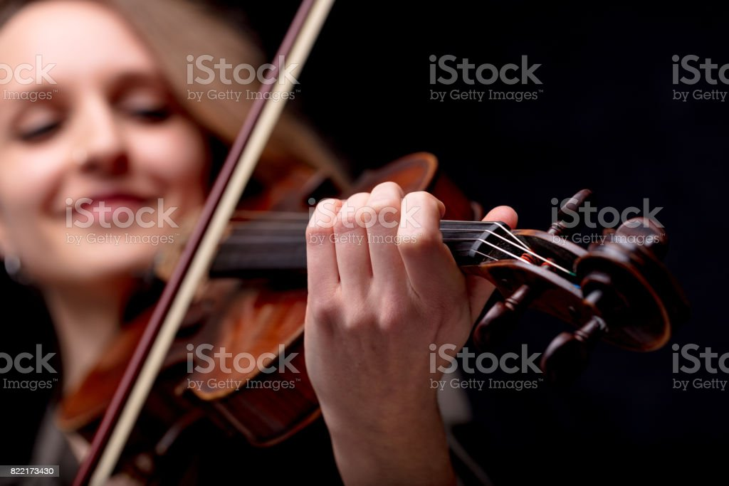hand closeup of a violinist classical musician stock photo