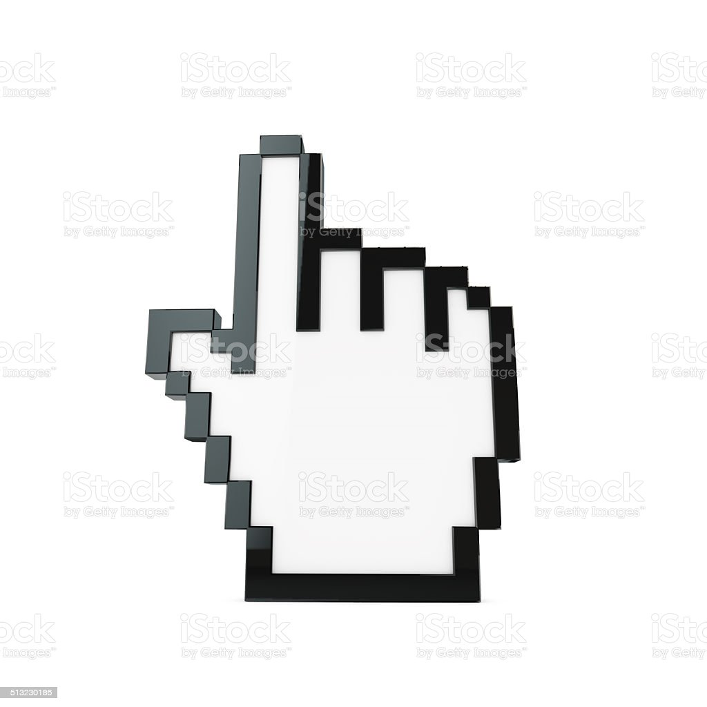 Hand computer cursor icon stock photo