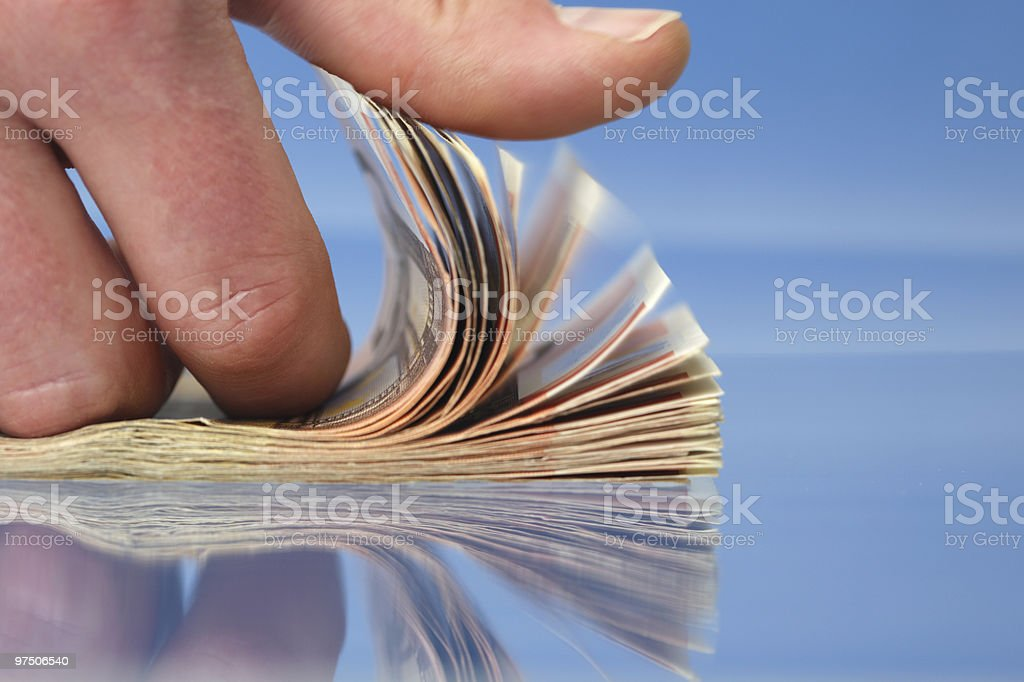 Hand counting money royalty-free stock photo