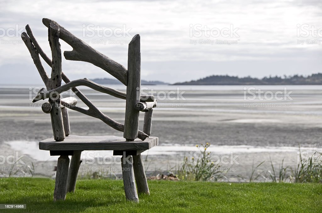 Hand Crafted Beach Chair stock photo