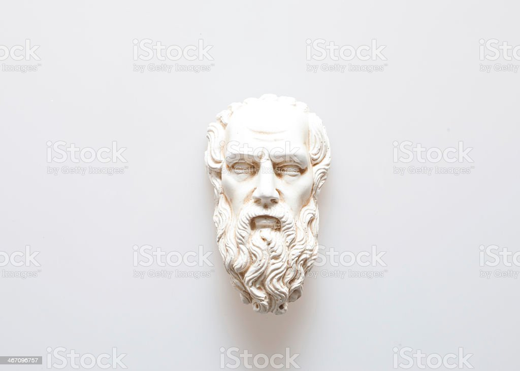 A hand crafted sculpture of Zeus the god of lightning stock photo