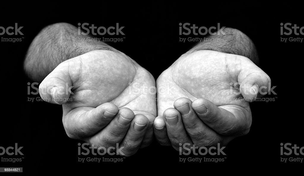 Hand cup royalty-free stock photo