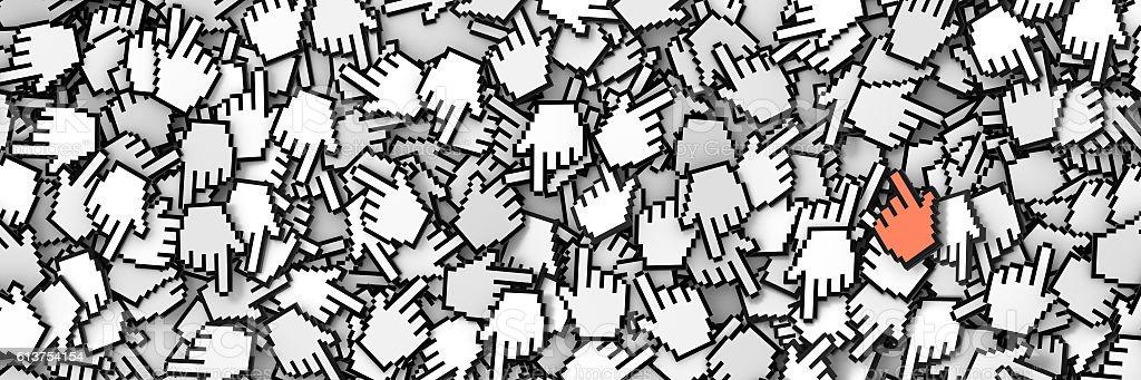 Hand cursor icon background stock photo