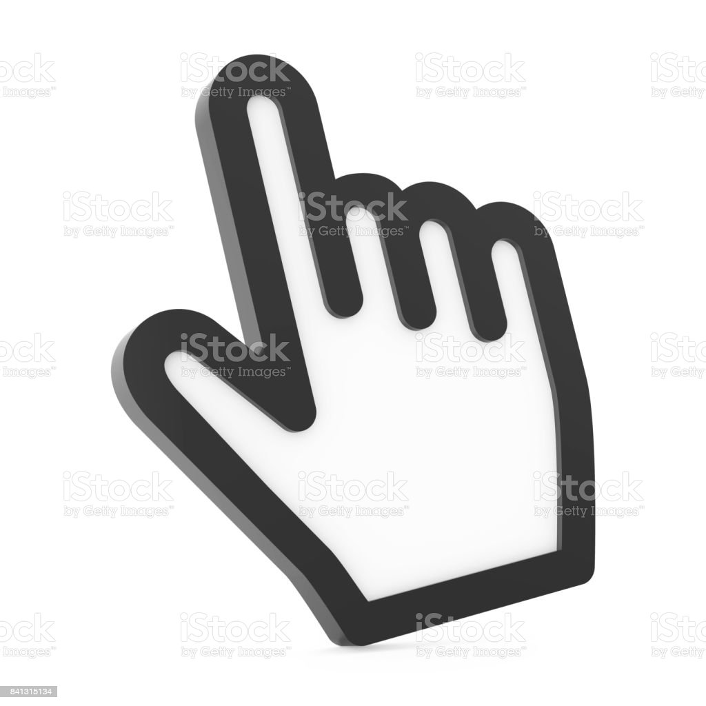 Hand Cursor Isolated stock photo