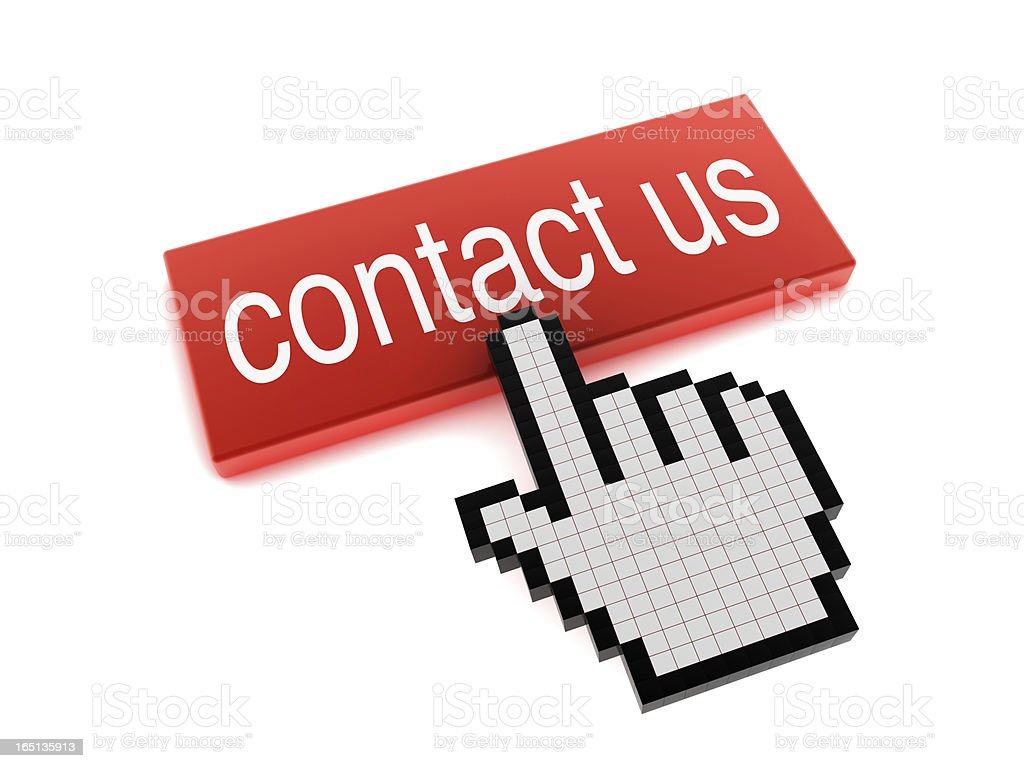 Hand Cursor on Contact Us Button royalty-free stock photo