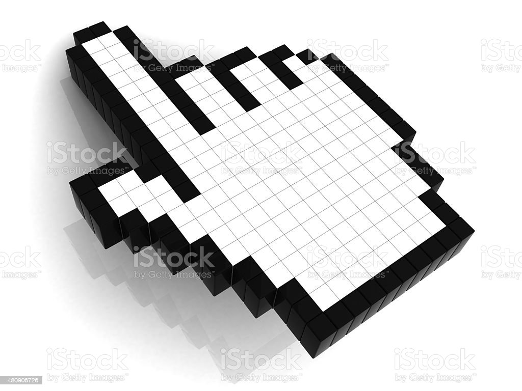 Hand Cursor With Reflection stock photo
