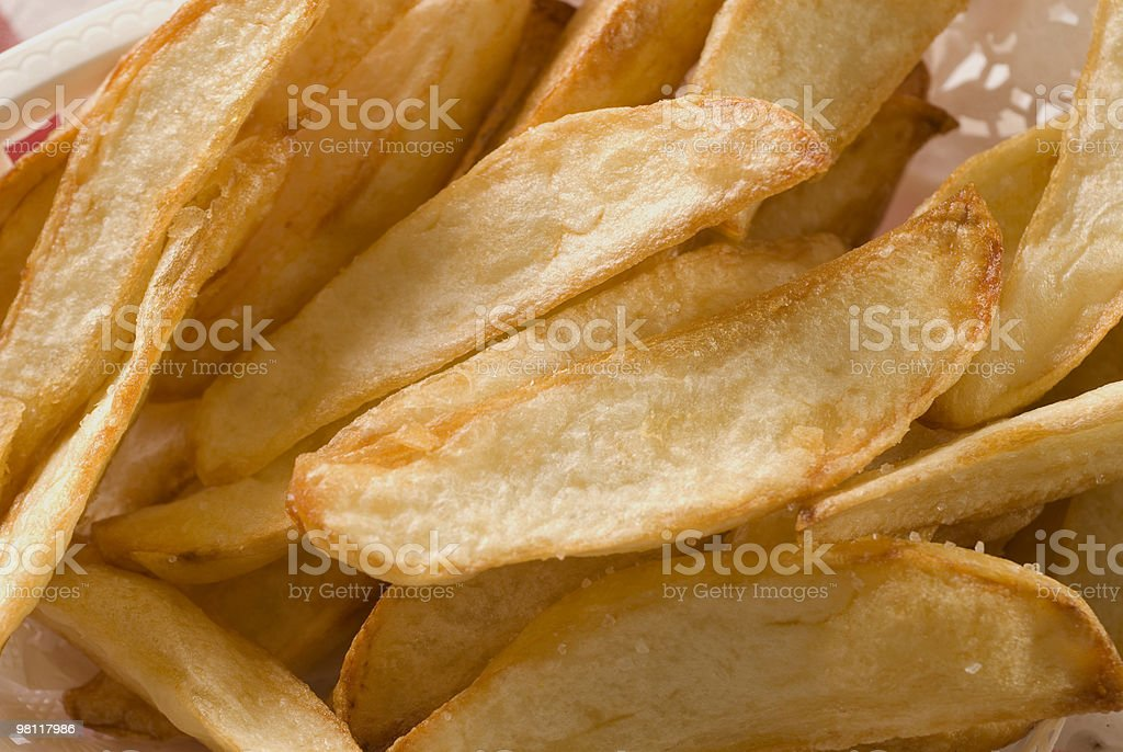 Hand Cut French Fries royalty-free stock photo