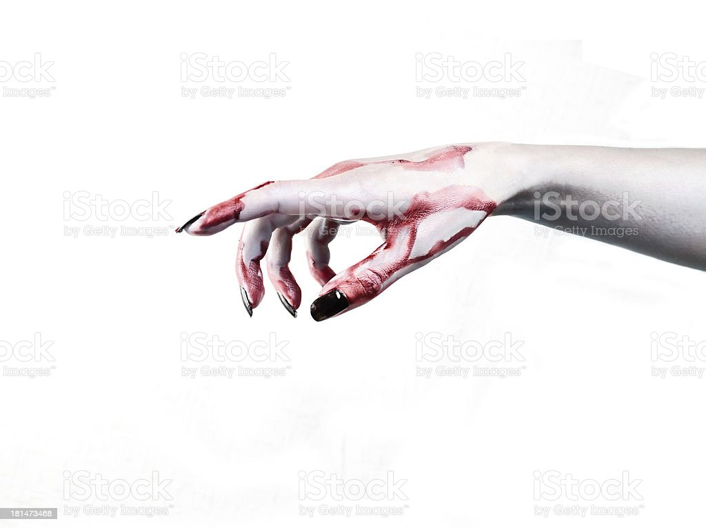 Hand dead man's  show the direction stock photo