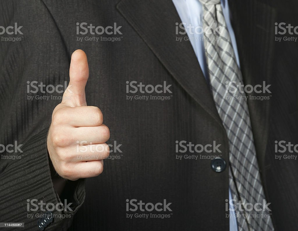 hand doing a thumb up gesture royalty-free stock photo