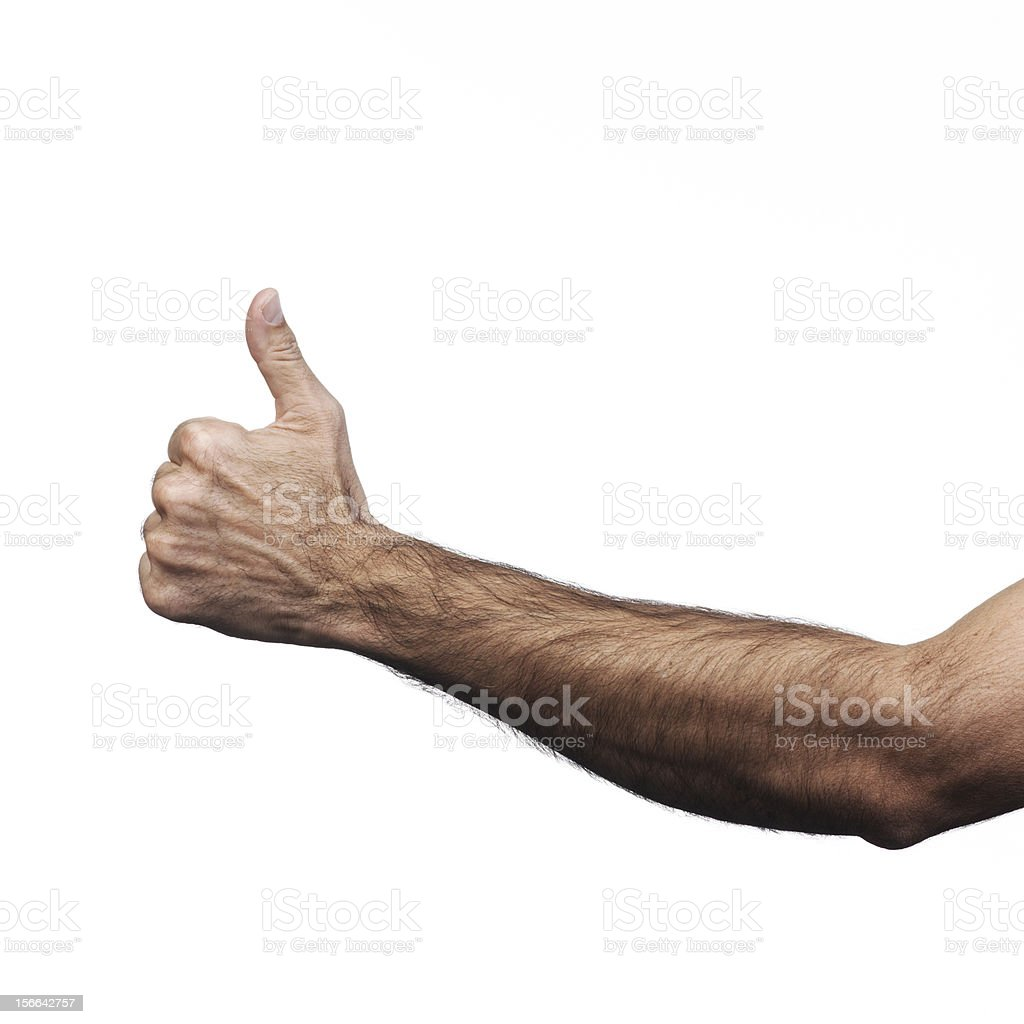 Hand doing signs royalty-free stock photo