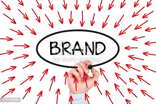 istock Hand Drawing Brand Concept on Whiteboard 470790560