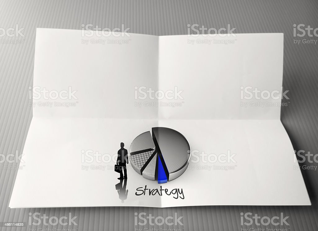 hand drawing business strategy word royalty-free stock photo