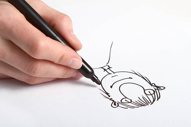 hand drawing caricature - 諷刺畫 個照片及圖片檔