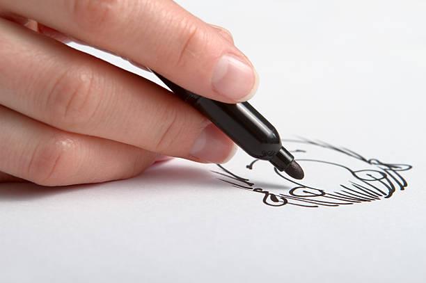 hand zeichnung karikatur - karikatur stock-fotos und bilder