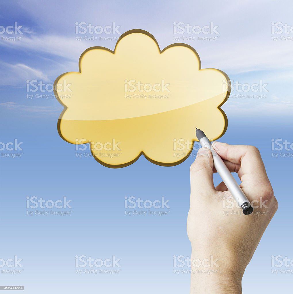 hand drawing cloud royalty-free stock photo
