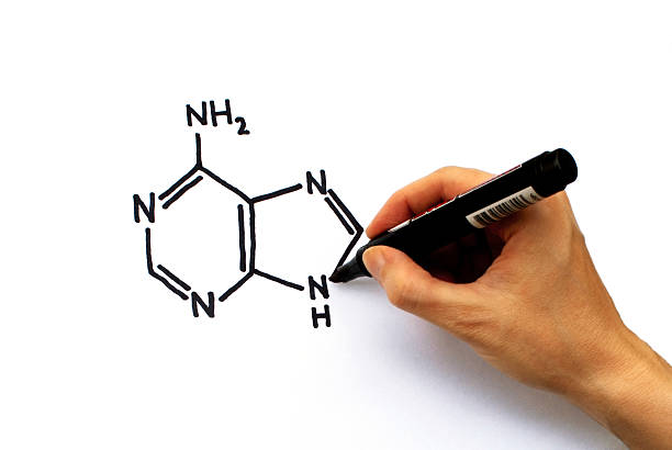 hand drawing formula - cyclic stock pictures, royalty-free photos & images