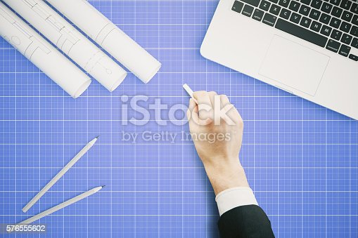 istock Hand drawing project 576555602