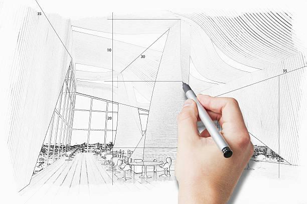 Hand drawing room project ストックフォト