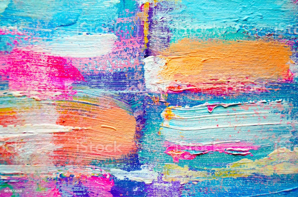 hand drawn acrylic painting abstract art background acrylic painting