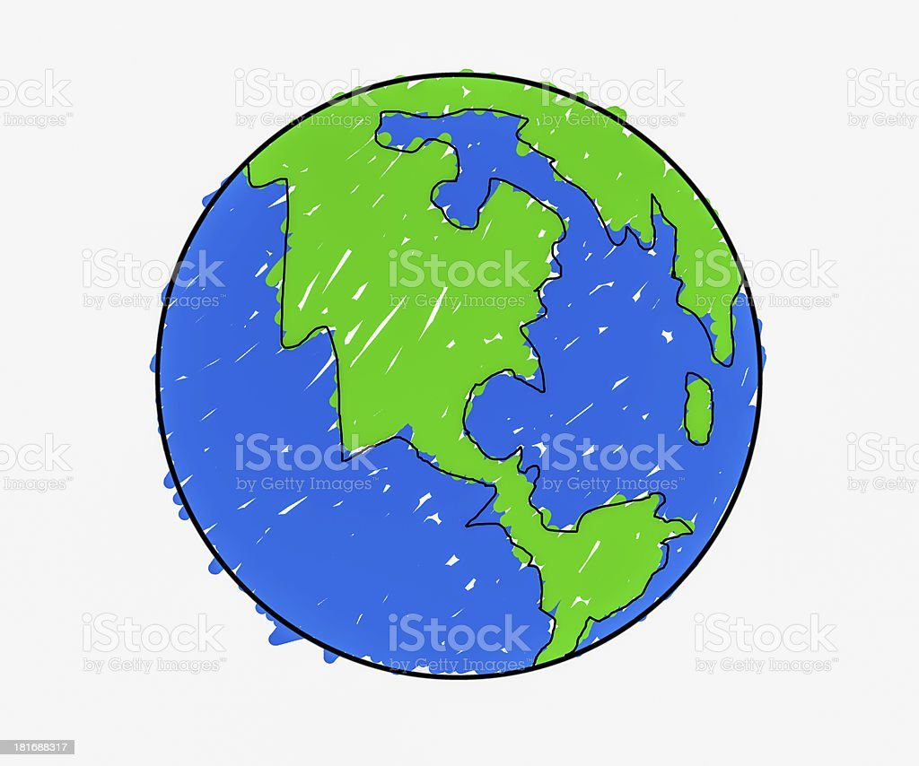 Hand drawn earth stock photo