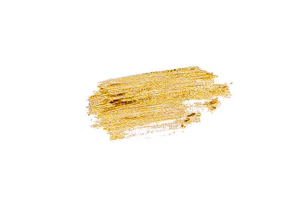 Hand drawn gold color texture stock photo