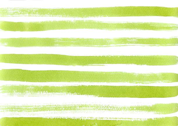 Hand drawn green watercolor abstract paint texture. Raster stroke background. stock photo