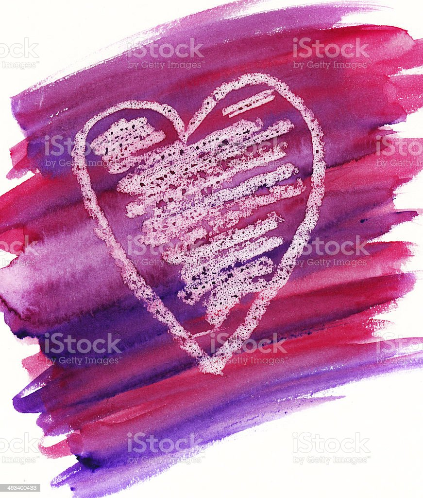 Hand drawn heart royalty-free stock photo