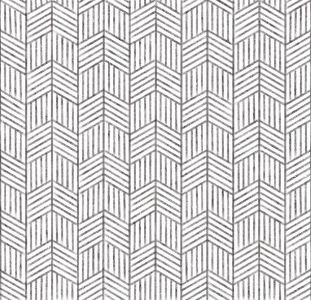 hand drawn herring bone pattern. - chevron stock photos and pictures