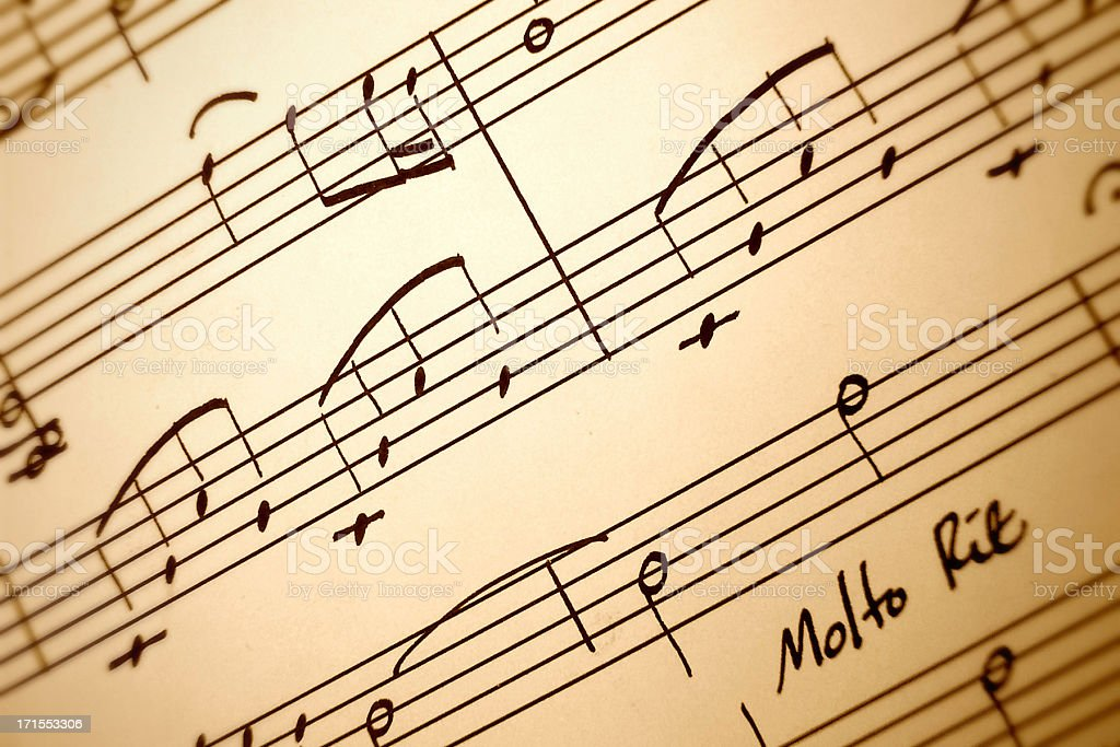 Hand Drawn Music Composition Closeup royalty-free stock photo